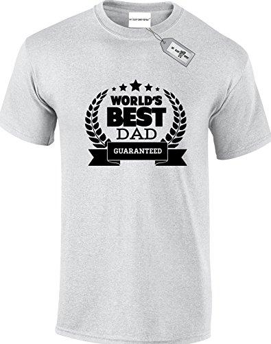 World 's Best Dad garantiert, Herren Unisex Erwachsene T-Shirts. KOSTENLOSE LIEFERUNG IM LIEFERUMFANG ENTHALTEN. Grau - Grau