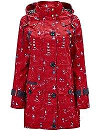 Joe Browns Womens Zip Up Coat In All Over Print With Hood