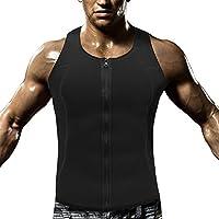 Hombre Camiseta Sin Mangas Chaleco Sauna Compresion Modelador Camiseta Reductora con Cremallera para para Desarrollo Muscular Pérdida de Peso con Quema Grasa Deportivo