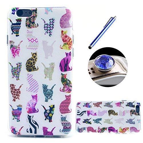 Etche TPU Housse pour iPhone 6/6S 4.7 pouces,Étui Coque Housse Pour iPhone 6/6S 4.7 pouces,coloré imprimé couvercle du boîtier de caoutchouc de silicone pour iPhone 6/6S 4.7 pouces + 1x Bleu style + 1 Pattern #1
