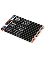 12 Colors Eye MakeUp Eyeliner Pencil Waterproof Eyebrow Pen Eye Liner Lip sticks Cosmetics Eyes Makeup