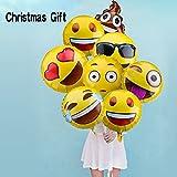 33 Stück Emoji Party Luftballons 45...
