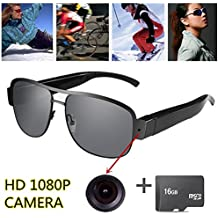 OMOUP 16GB 1080P HD Gafas de Vídeo Digital Spy Eyewear Estilo Ocultos Cámara  Mini DV Videocámara 37f76398dd