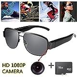 OMOUP 16GB 1080P HD Gafas de Vídeo Digital Spy Eyewear Estilo Ocultos Cámara Mini DV...
