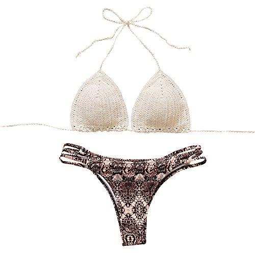 Costumi Donna Dorame Homebaby Nappe Swimwear Bikini Set Patchwork Da Bagno Due Pezzi