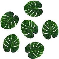 Hemore 10 PCS Decoraciones temáticas Falso Artificial de Las Hojas de Palma Tropicales de Hawai Jungle