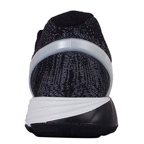 Nike Wmns Lunarglide 7 Flash, Chaussures de Running Entrainement Femme Noir - Negro (Blk / Rflct Slvr-Pr Pltnm-Drk Gr)