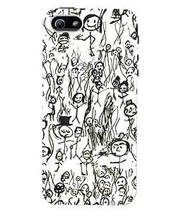 Fuson 3D Printed Sketching Designer Back Case Cover for Apple iPhone 5 - D946
