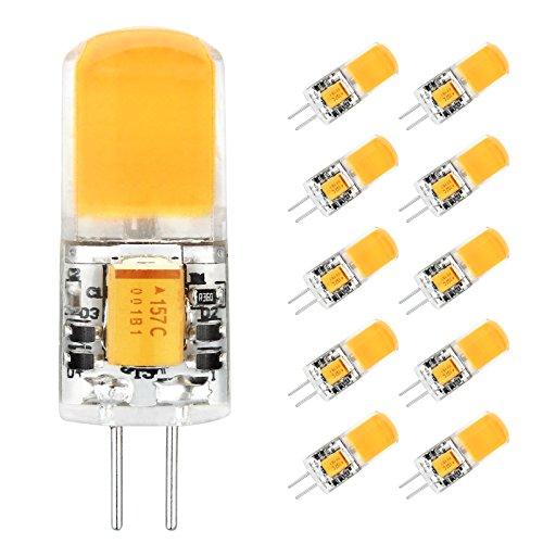 G4 LED Lampe, Ascher 10er Pack G4 3W LED Lampe COB, 260LM, Ersetzt 30W Halogen, AC/DC 12V, Warmweiß, 360° Abstrahlwinkel, G4 LED Leuchtmittel