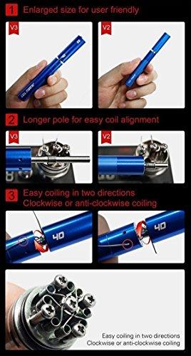 Homecube Coil Master V3 6-in-1 Spule Jig & Pinzette Keramik & japanischen Bio Baumwolle Draht Wicklung Präzisionswerkzeug für Ecig authentische 6 Aufwickeln Pole schwarz