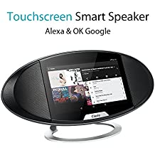 Clazio WIFI Internet Radio Portable Bluetooth Speaker Voice Control for Alexa or OK Google Android 6.0 Touchable Wireless Speaker for Golf Beach Shower Home