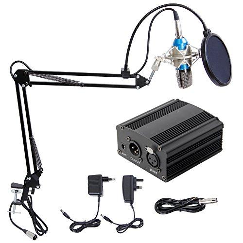 Tonor XRL 3.5mm Micrófono Condensador Profesional para Computadora Po