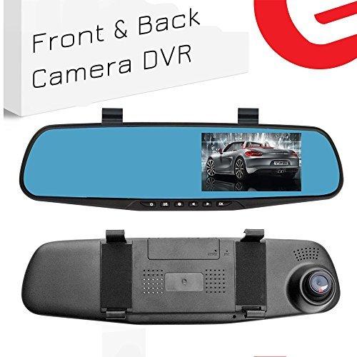 Kamera | KFZ Video Recorder Full HD 1080p | KFZ Video Kamera 10,9 cm LCD mit Dual Objektiv für Fahrzeuge & Rückspiegel vorne | DVR Dash Kamera 2010 ()