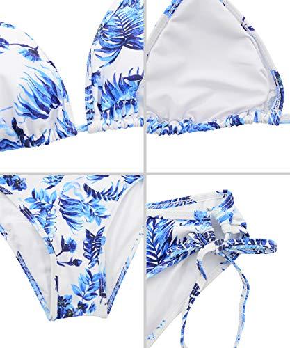 Durio Bikini Damen Push up Sexy 2tlg Bikini Damen Set mit Triangel Bikinihose Breit von Körpchen Verstellbar Porzellan EU 36 (Herstellergröße S) - 3