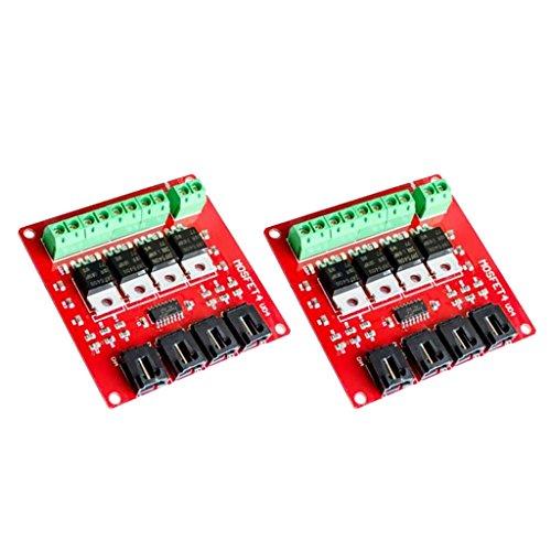 Sharplace 2 Stücke 4 Kanal 4 Route MOSFET Button IRF540 V2.0 + MOSFET Switch Modul Arduino -