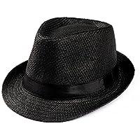 Amlaiworld Gorras Gorras de Hombre Mujer Unisex Trilby Gangster Mujer  Hombre Sombrero de Paja de Sol de f6122ddffff