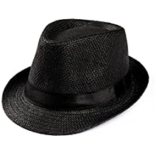 Amlaiworld Gorras Gorras de Hombre Mujer Unisex Trilby Gangster Mujer  Hombre Sombrero de Paja de Sol de aaf97cf0120