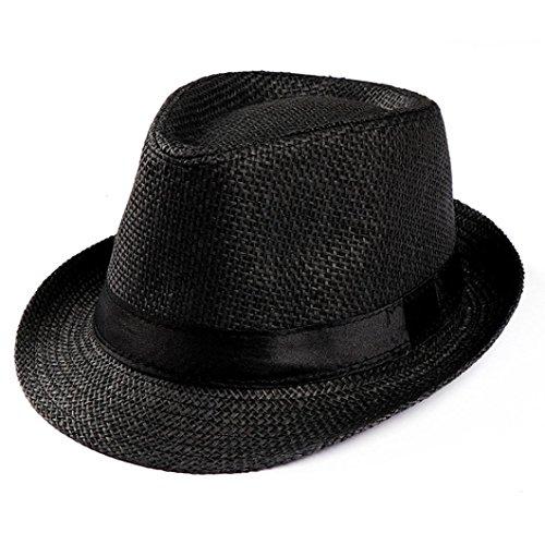 Amlaiworld Gorras Gorras de Hombre Mujer Unisex Trilby Gangster Mujer Hombre  Sombrero de Paja de Sol de 23edd23245e7