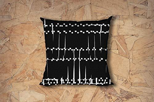 565pir schwarz und weiß geometrische Akzente Kissen Moderne Couch Kissen Designer Kissenbezug Couch Akzent Kissen Überwurf Kissenbezug 18x18 -