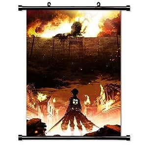 attaque des titans shingeki no kyojin anime manga poster en tissu 16 x 22 cm. Black Bedroom Furniture Sets. Home Design Ideas