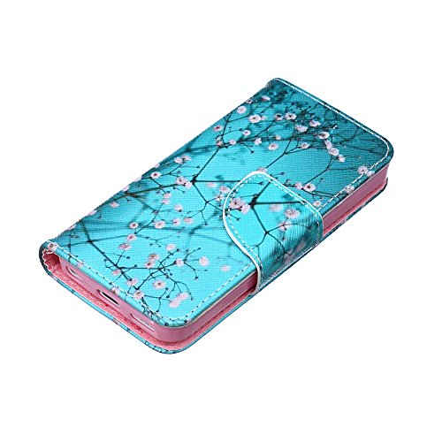 Nutbro iPhone 5C Case, iPhone 5C Case, iPhone 5C Wallet Case, Luxury Pu Leather Magnet Wallet Flip Case Cover with Built-in Credit Card/ID Card Slots for iPhone 5C HX-iPhone-5C-27