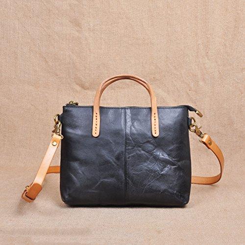 Enveloppe zippée bandoulière en cuir sac retro simplicité petite place avec le sac Green