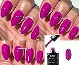 BLUESKY Neon 28Pink Violett Fuchsia Nagellack-Gel UV-LED-Soak Off 10ml plus 2homebeautyforyou Shine Tücher