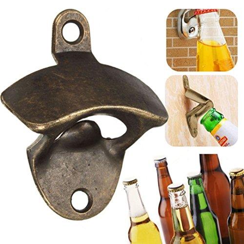iDealhere Klassisch Wand FlaschenöffnerWein Flasche Kappe Metall (Bronze)