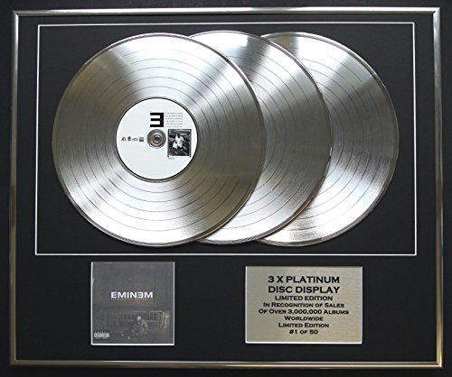 EMINEM/3 x Platin Anzeige/Limitierte Edition/COA/THE MARSHALL MATHERS LP