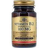 Solgar Vitamina B2 (Riboflavina) 100 mg Cápsulas vegetales - Envase de 100