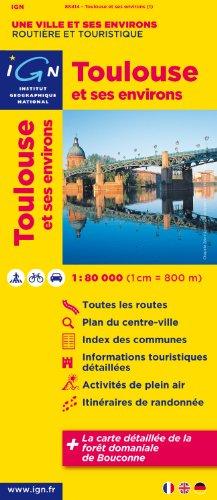 88414 Toulouse et Ses Environs 1/80.000 par Ign