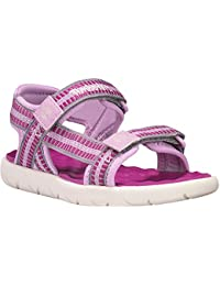 Timberland Perkins Row Webbing Medium Pink Textile Infant Strap Sandals
