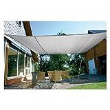 Eduplay Sonnenschutz Sonnensegel, 6x4m, Rechteck, grau