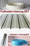 10 m² 12 cm Abstand SET-Fußboden-Heizung Platte-Trockenbau Rohr Wärmeleitblech Badezimmer