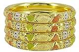 Banithani Gold plattiert indische traditionelle Armband Kada Armreif Set Frauen Hochzeit Schmuck