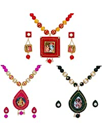 Jaipur Mart Multi Cloor Glass Beads Alloy Jewelry Set