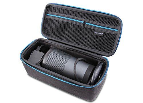 Supremery Bose SoundLink Revolve + Plus Bluetooth Lautsprecher Case Hülle Eva Reisetasche mit Tragegriff - Wasserabweisend in Schwarz-Blau