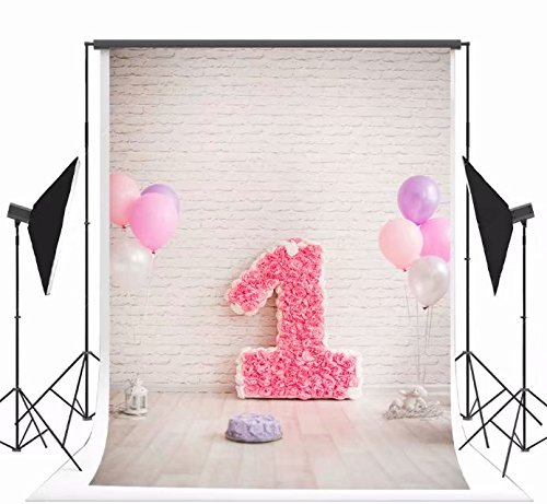 Kate Microfiber mauer fotografie hintergrund Rosette 1. geburtstag foto hintergrund weiße Luftballons Atelier - hintergrund nahtlosen hintergrund für Partei - dekoration 150x220cm