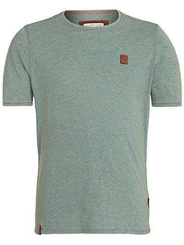 Herren T-Shirt Naketano Halim Trabando II T-Shirt heritage forrest melange
