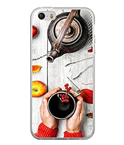 Fuson Designer Back Case Cover for Apple iPhone 5S (Lady Ladies Morning Tea Hill Housewife Woman)