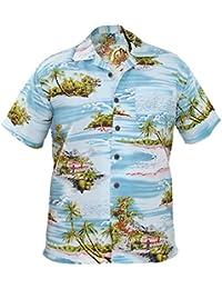 New Mens True Face Hawaiian Beach Flimingo Mountain Spring Shirts