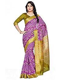 Mimosa By Kupinda Women's Tussar Silk Saree IkkatStyle (Latest Designer Sarees /Party Wear Sarees /New Collection...