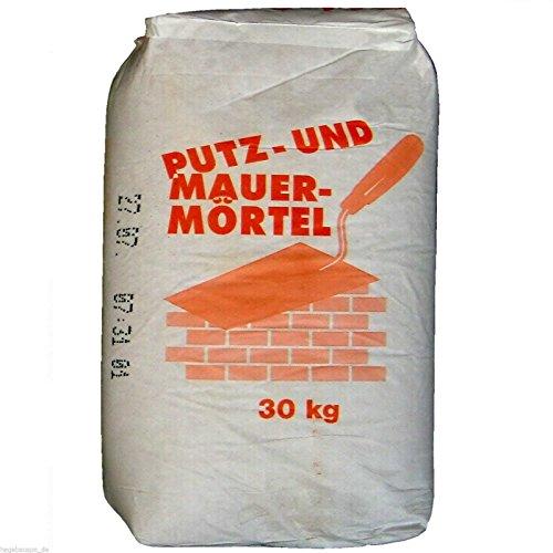 30Kg Mauermörtel 0,33€/Kg Putzmörtel Trockenmörtel Kalk-Zement-Mörtel zum Mauern + Putzen