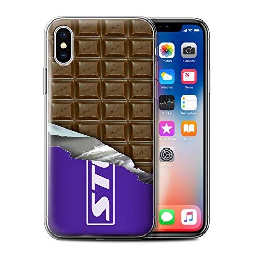 Stuff4 Gel TPU Hülle / Case für Apple iPhone X/10 / Dairy Milk Blocks/Slab Muster / Schokolade Kollektion Dairy Milk Blocks