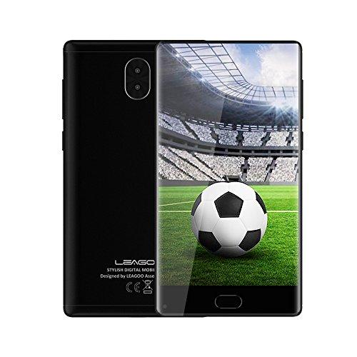 LEAGOO KIICAA MIX, 4G LTE Smartphone Ohne Vertrag, Dual SIM Dual Standby Handy Mobiltelefon Telefon, 5,5 Zoll Voll Display, Fingerabdruck ID 0,1S Entsperren, Triple Kameras, Android 7.0, Günstiges Telefon (Schwarz)