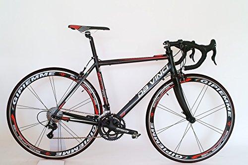 Rennrad Da Vinci 20 G Compact mit Gipiemme 716 Equipe Laufräder (59 - für KG 1.83 bis 1.95)