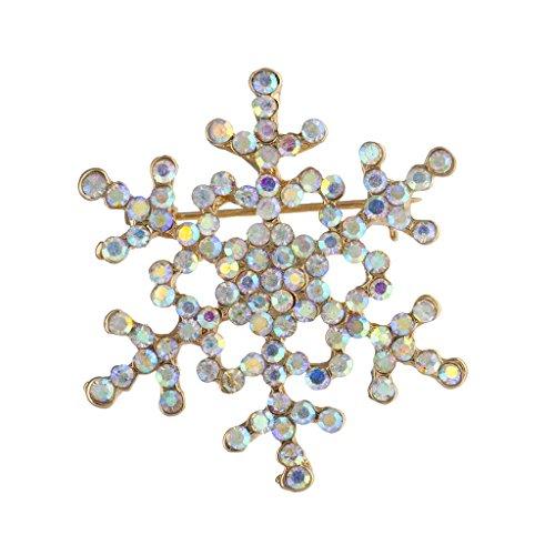 irisierend Weihnachts Urlaub Bling Schneeflocke Brosche Pin (Schneeflocke-pin)