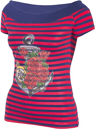 Küstenluder MY ANCHOR Anker Rosen Nautical Sailor CARMEN Shirt Rockabilly -