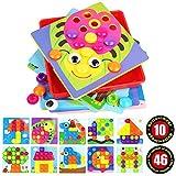 Umitive Tablero de Mosaicos Infantiles,46 Piezas Puzzle 3D Mosaico...
