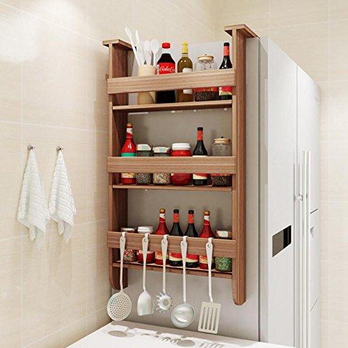 Kühlschrank Racks Side Kühlschrank Hängenden Rack 3 Tiers Gewürzregal Glas Flaschenhalter Über Tür Wand Aufbewahrungsbehälter Für Küche,#3,43.5*20*76.5Cm (Rack Tür Kühlschrank)